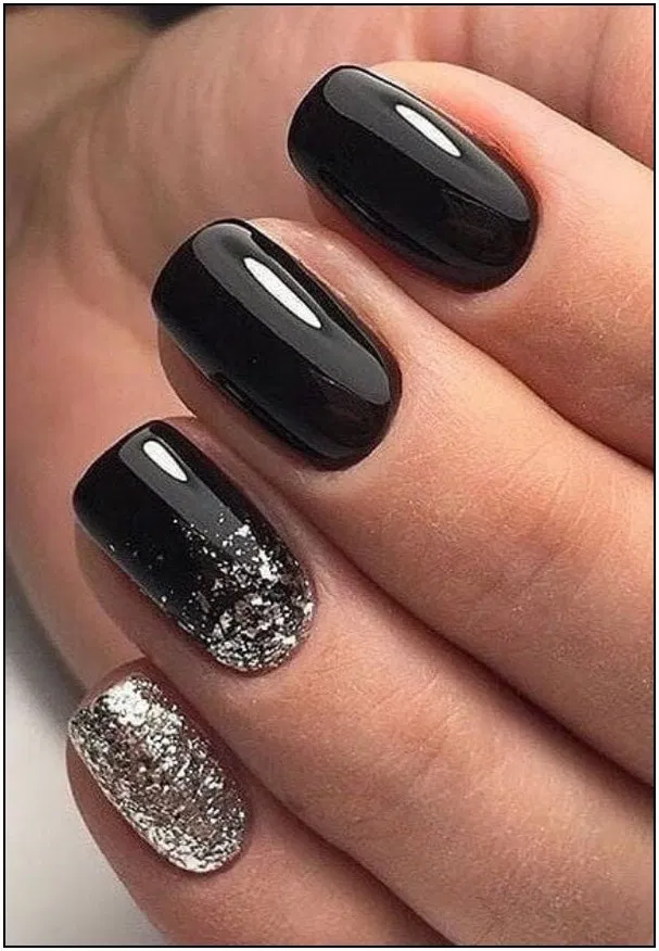 156 Adorable Fall Nail Art Designs That Will Completely Beautify Your Look Page 38 Short Square Nails Black Nail Designs White Acrylic Nails