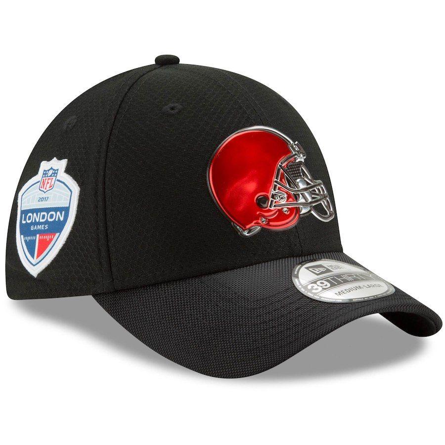 sports shoes 396ce 6b4c6 Men s Cleveland Browns New Era Black London Games 39THIRTY Flex Hat, Sale    23.99 -