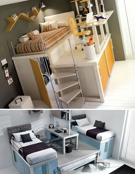 Lofted Space-Saving Teen Bedroom