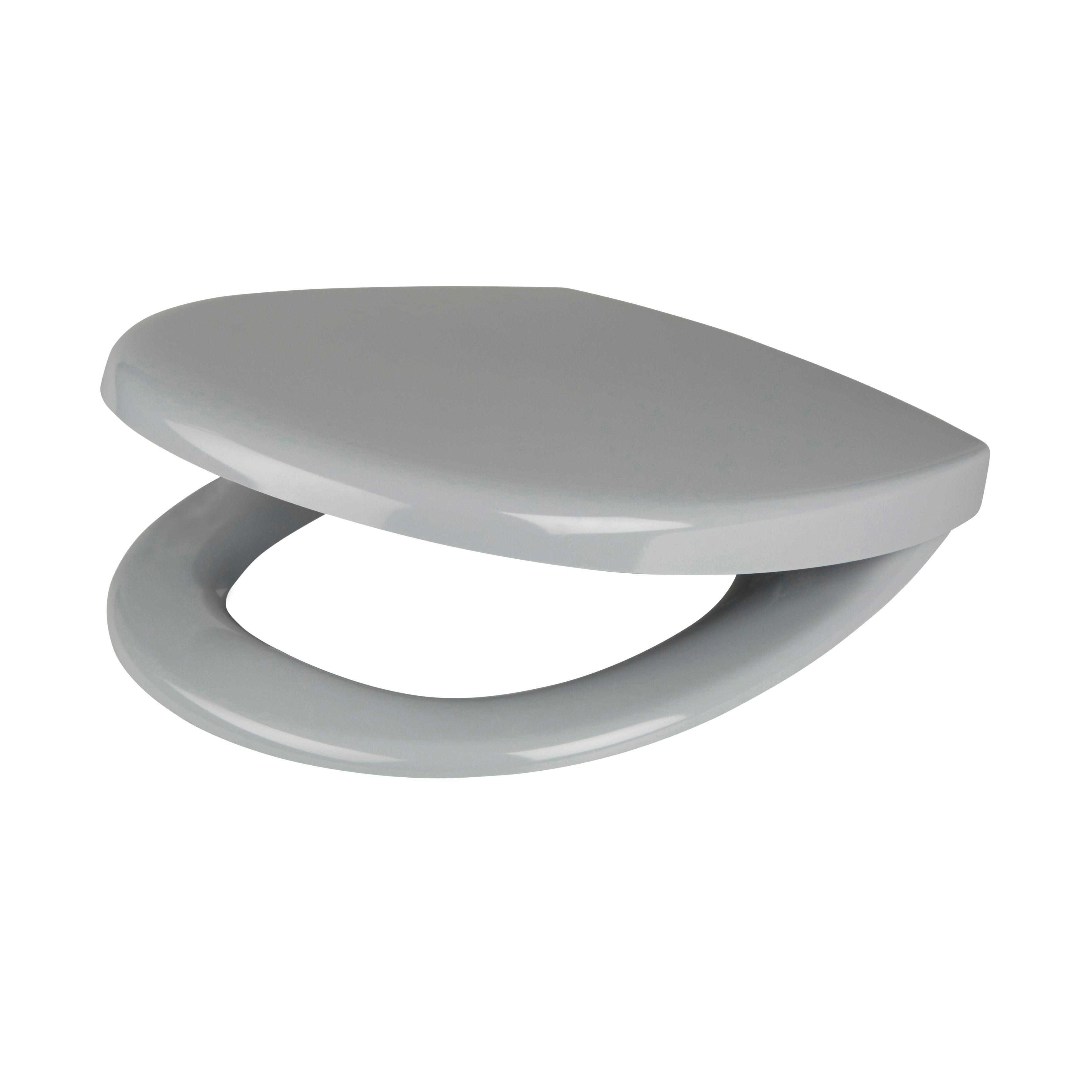 Stupendous Cooke Lewis Valtos Grey Top Fix Soft Close Toilet Seat Gmtry Best Dining Table And Chair Ideas Images Gmtryco