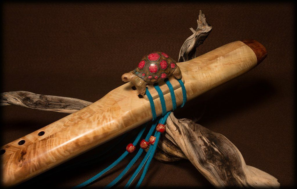 Native American flutes by Charles Littleleaf of the Warm