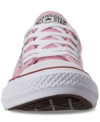 new products 6e31d 6f130 Converse Little Girls  Chuck Taylor All Star Ox Casual Sneakers from Finish  Line - Pink 2.5