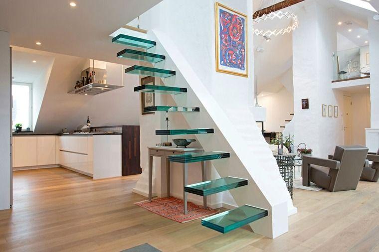 Escalier contemporain  un choix de modèles en couleurs Luminaires