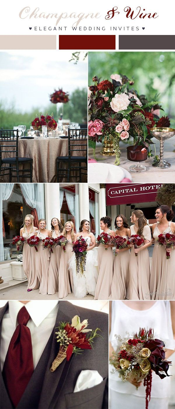 Top 8 Burgundy Wedding Color Palettes You\'ll Love | Burgundy ...