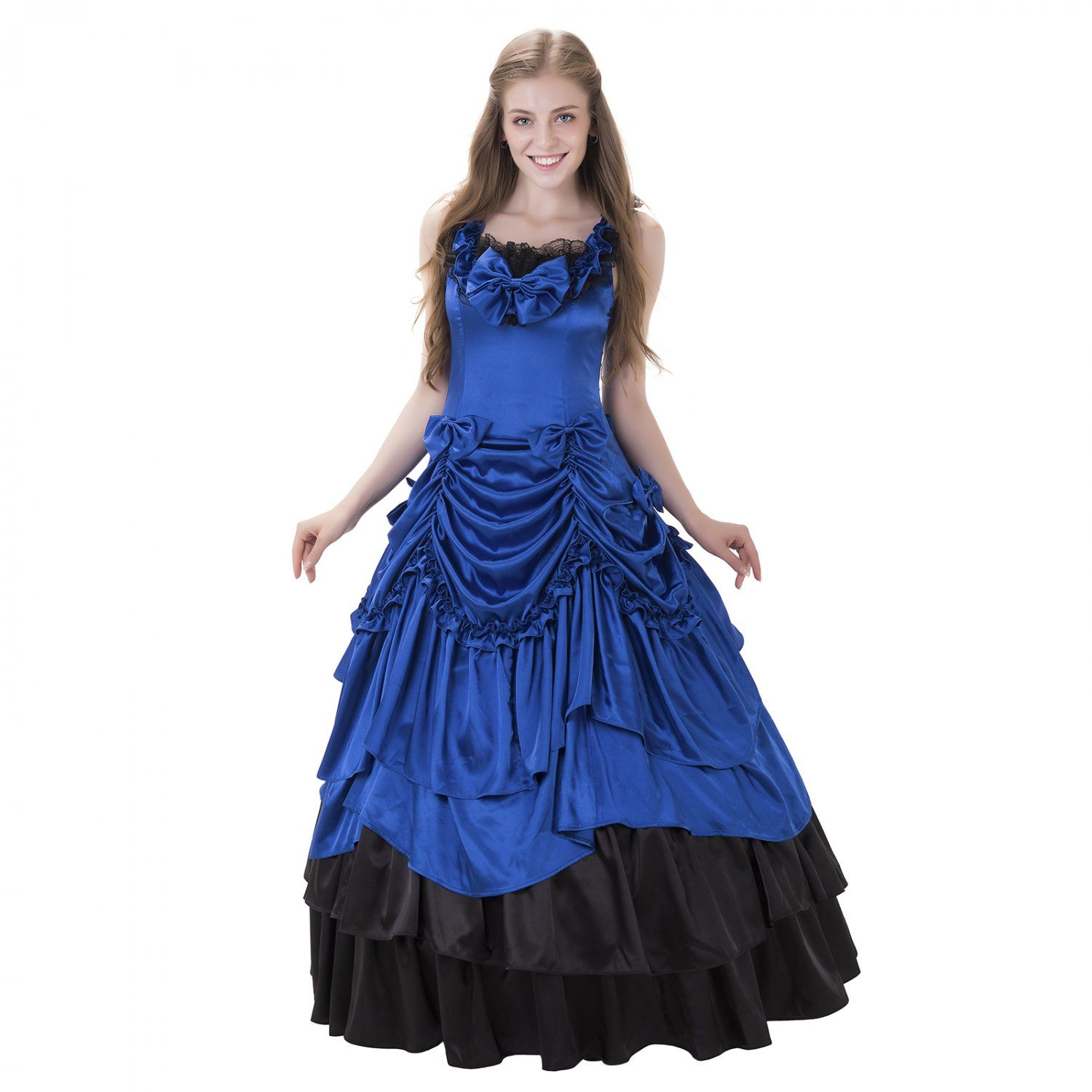 Cosplaydiy+Medieval+Dress+Women\'s+Evening+Dress+For+Party+Sapphire+ ...