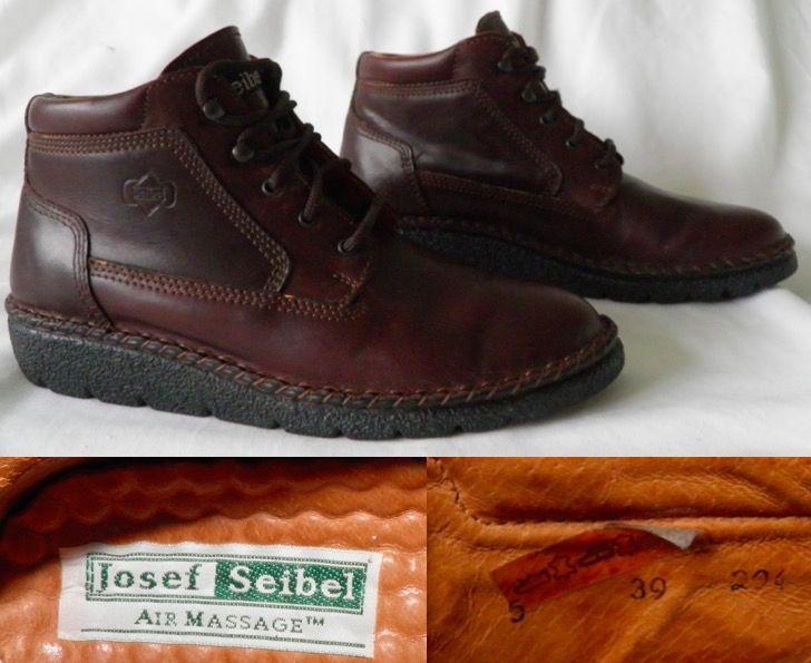39d501df7e5f8 2000's JOSEF SEIBEL Chestnut Air Massage Comfort Low Heel Boots Shoe 5 39  Ladies JOSEPH 51.00 +PP