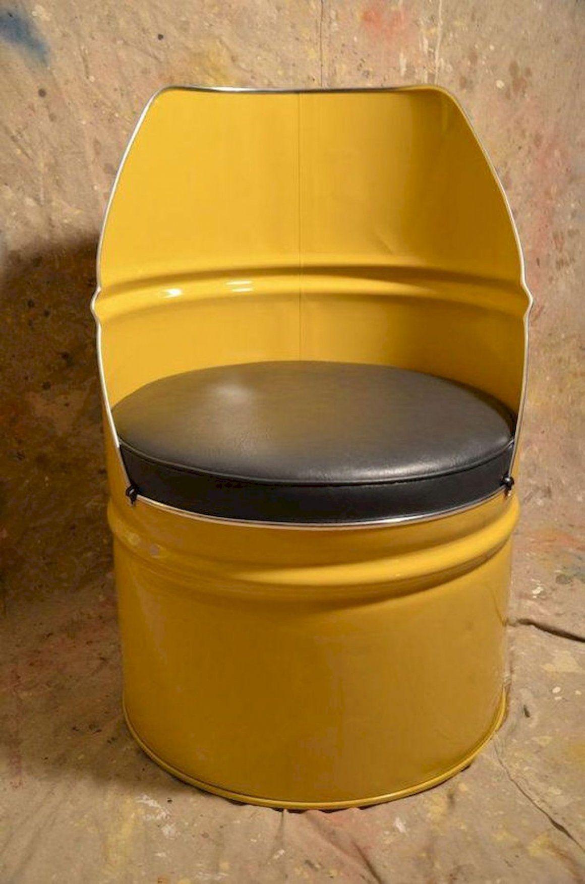 Barrel Metal Drum Project Ideas Engineering Discoveries In 2020 Barrel Chair Industrial Furniture Barrel Furniture