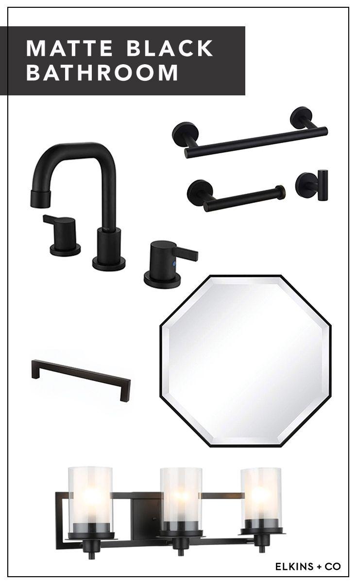 Photo of Matte Black Bathroom Hardware