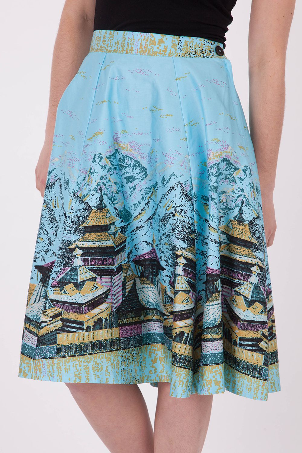 df905944fe0 RetroSpec d Robyn Oriental Tea House Skirt - Womens Knee Length Skirts at  Birdsnest