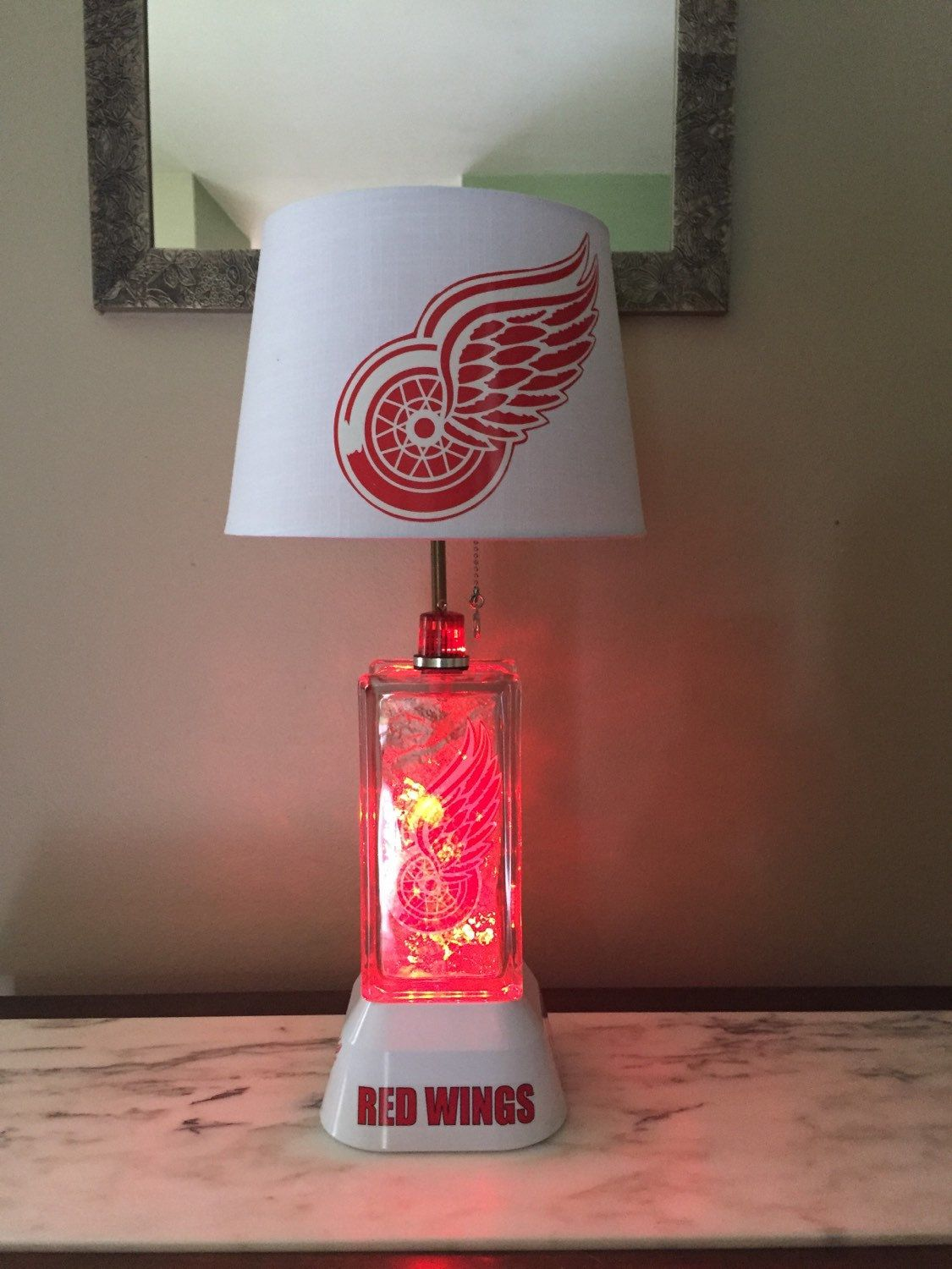 Detroit redwings Electric Lamp, Electric night light with