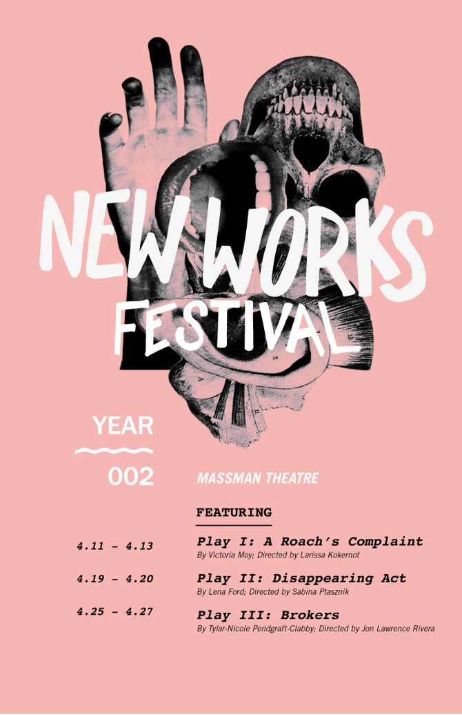 New Works Festival Graphics, Layouts and Typography - typography flyer