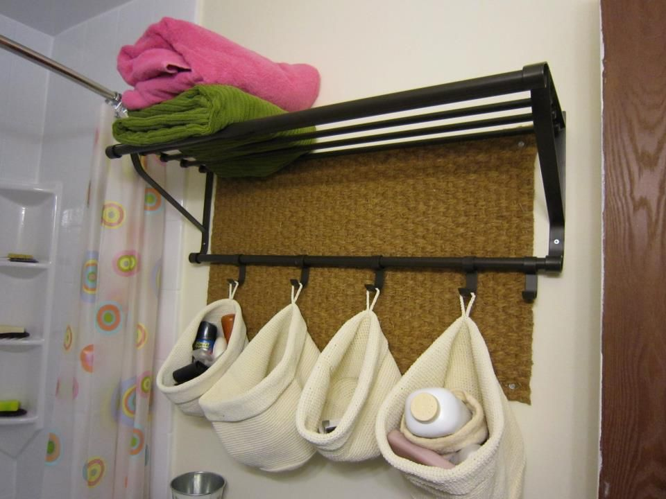 Use An Ikea Hat Rack This Is Portis Na In The Bathroom To Hold