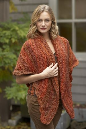 Freecrochetpatternlionbrand This Easy Triangle Shawl Is