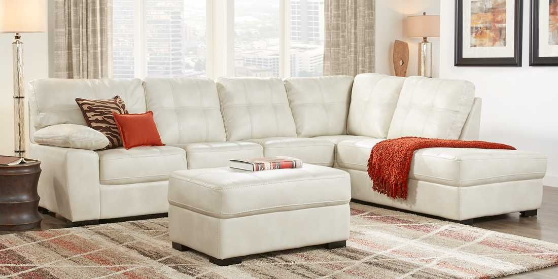 Bexley Square Cream 2 Pc Sectional Rooms To Go Living Room Sets Furniture Living Room Sectional Rooms To Go Furniture
