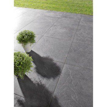 Carrelage noir effet pierre ardenia x cm leroy for Carrelage leroy merlin