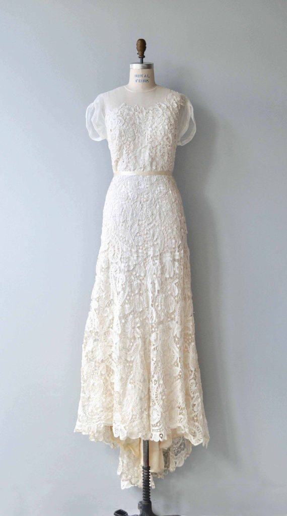 Lysithea Wedding Gown Vintage 1930s Wedding Dress 30s