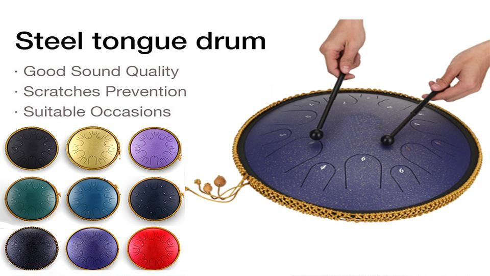 Steel Tongue Drum Video In 2020 Drums Drum Notes Percussion Instruments