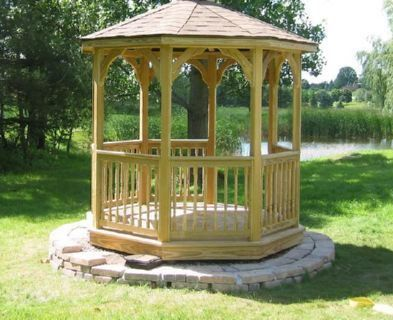 8ft Octagon Gazebo Plans Step By Step Instructions Download Gazebo Plans Round Gazebo Patio Garden Design