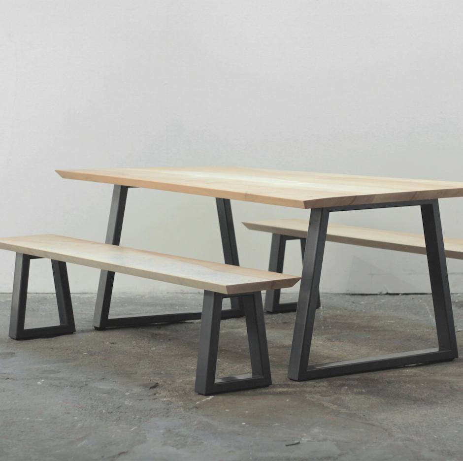 Table and bench set made in the uhow to get a beautiful for Minimalist living movement