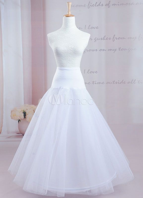 Quality Two Tier Great A Line Slip Bridal Wedding Petticoat