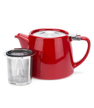 Stump Teapot with Infuser – Red, 18 oz