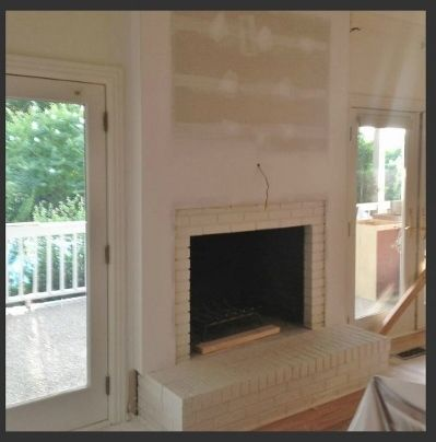 Fireplace And Mantel Makeover Brick Fireplace Remodel Brick Fireplace Makeover Red Brick Fireplaces