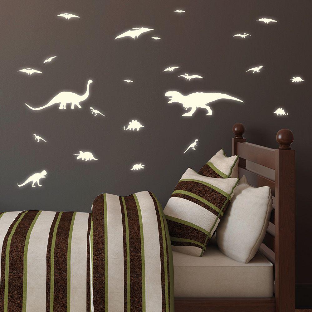 Dinosaurier - Leuchtaufkleber 20teilig | Wandtattoo Loft ...