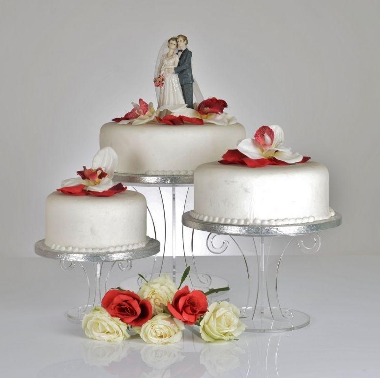 Scroll Design Clear Acrylic Wedding Cake Stand