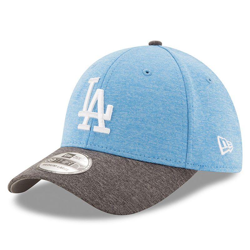 56c12fe4925b2 Los Angeles Dodgers New Era 2017 Father s Day 39THIRTY Flex Hat - Heather  Blue
