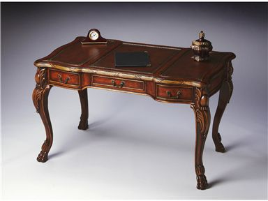 2147090 In By Butler Specialty Company In Las Vegas, NV   This  Extraordinary Writing Desk Has A Warm Chestnut Finish Over Maple Veneers  And Gemelina Solids.