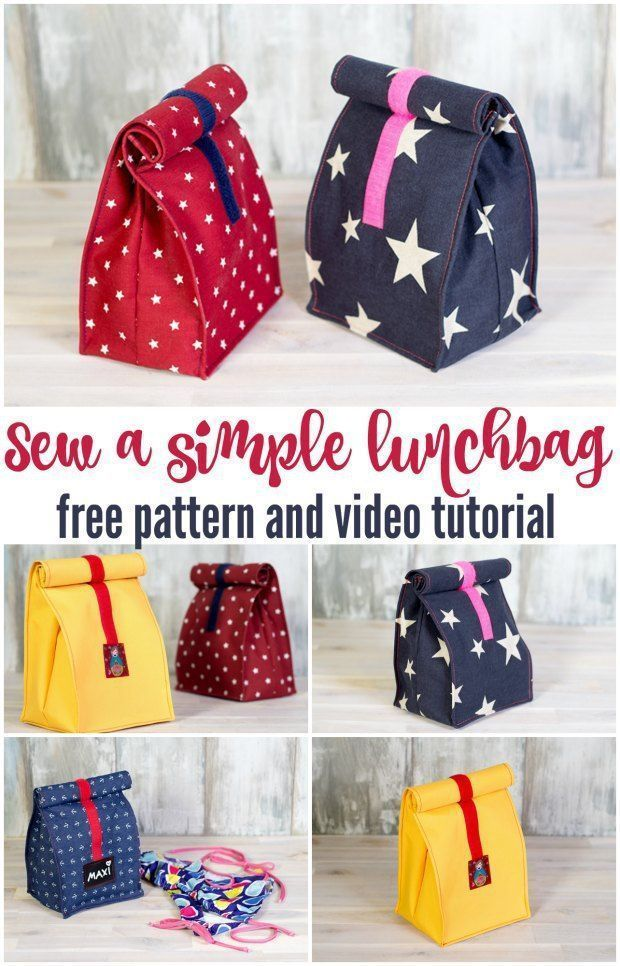 Sew your own lunch bag - video - Sew Modern Bags