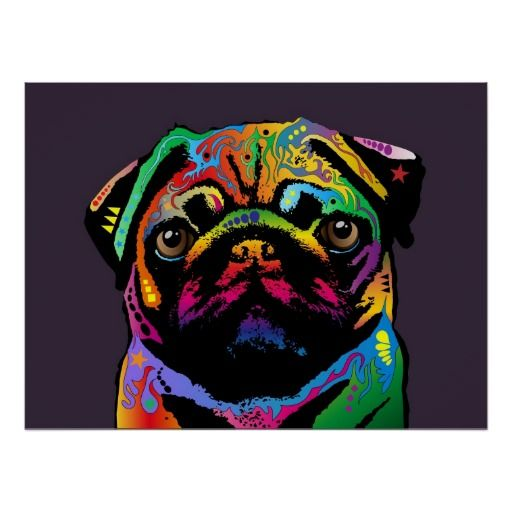 Pug Dog Poster Zazzle Com Dog Pop Art Dog Art Pug Art