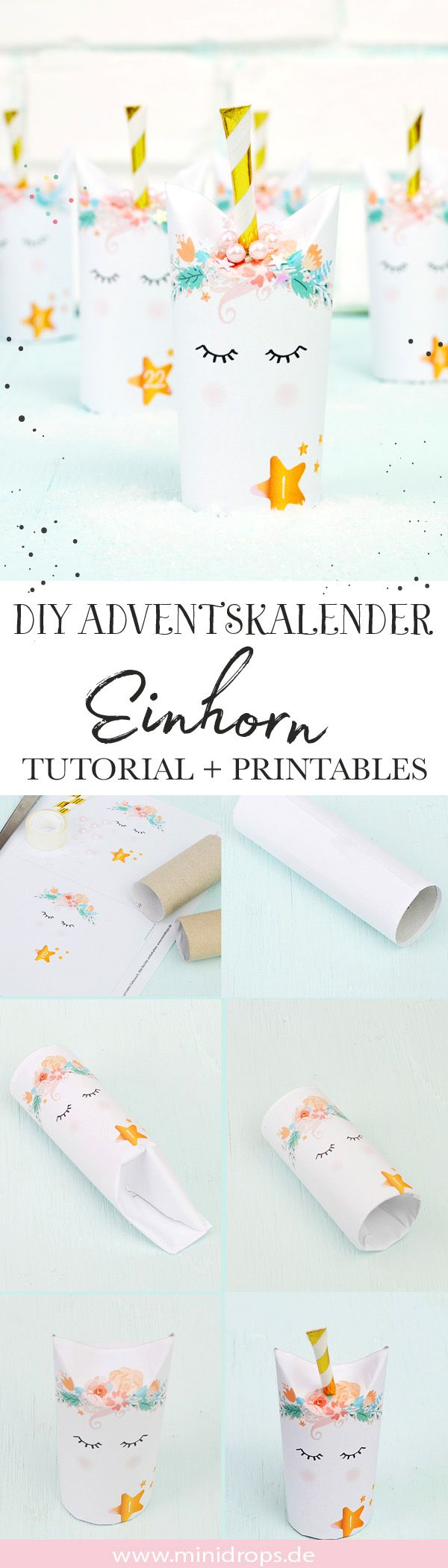 Photo of DIY Einhorn Adventskalender aus Toilettenpapierollen basteln