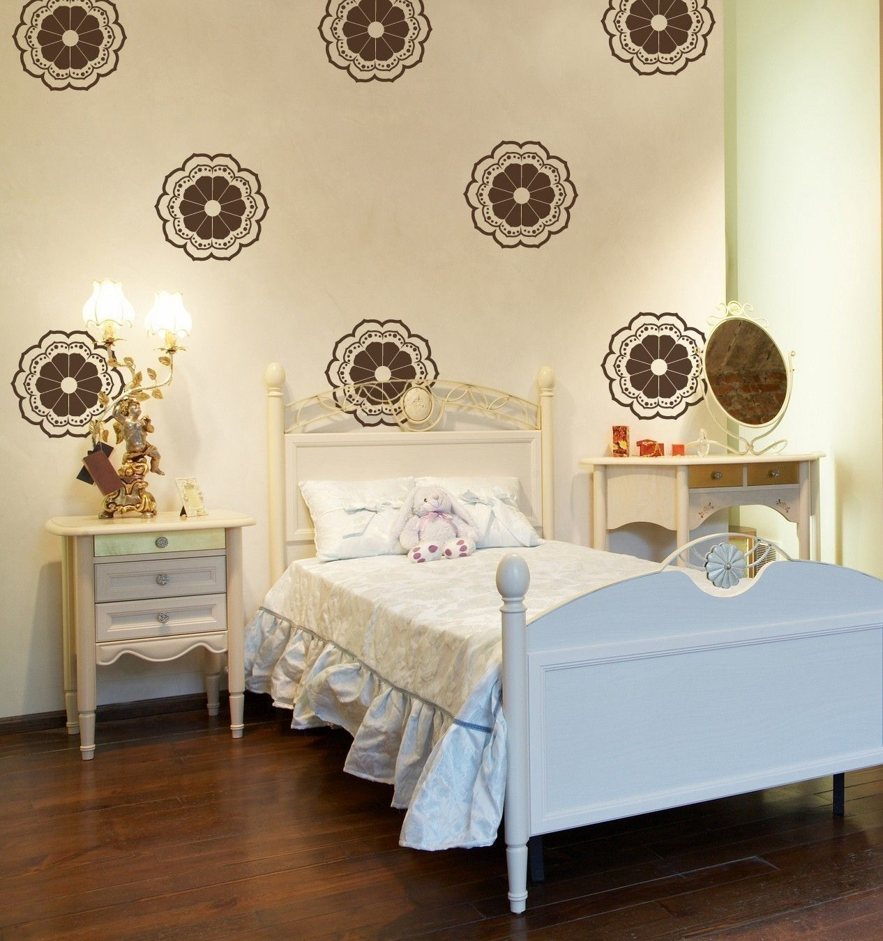 Pretty girls room design vinyl moroccan wall decals ideas for the