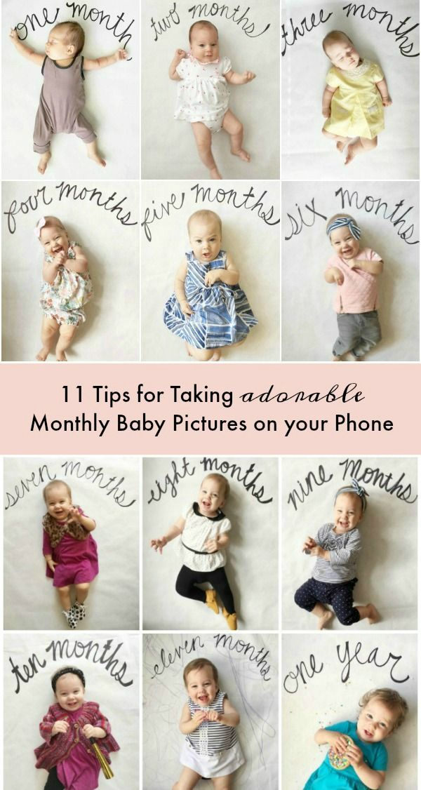 Photography · tips for taking monthly baby pictures