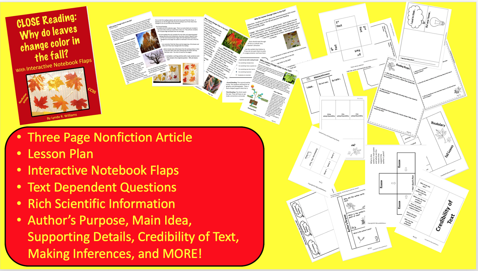 Classifying Leafs Incorporating Common Core Ela Standards