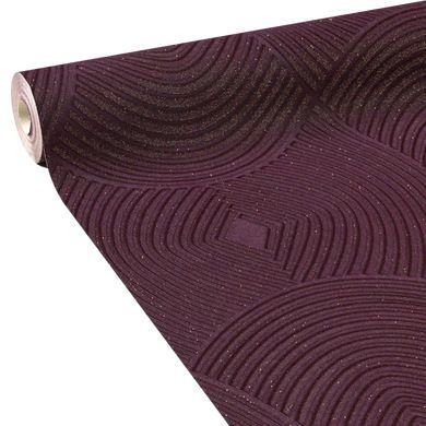 Papier peint vinyle LOUXOR coloris aubergine Palais royal