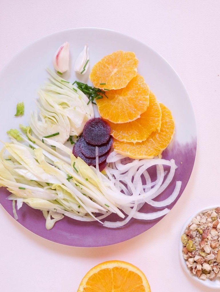 salade endive fenouil orange betterave l mademoiselle bagatelles