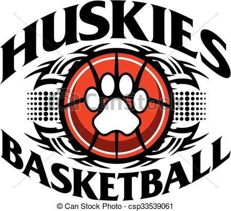 Vector - huskies basketball - stock illustration, royalty free illustrations, stock clip art icon, stock clipart icons, logo, line art, EPS picture, pictures, graphic, graphics, drawing, drawings, vector image, artwork, EPS vector art