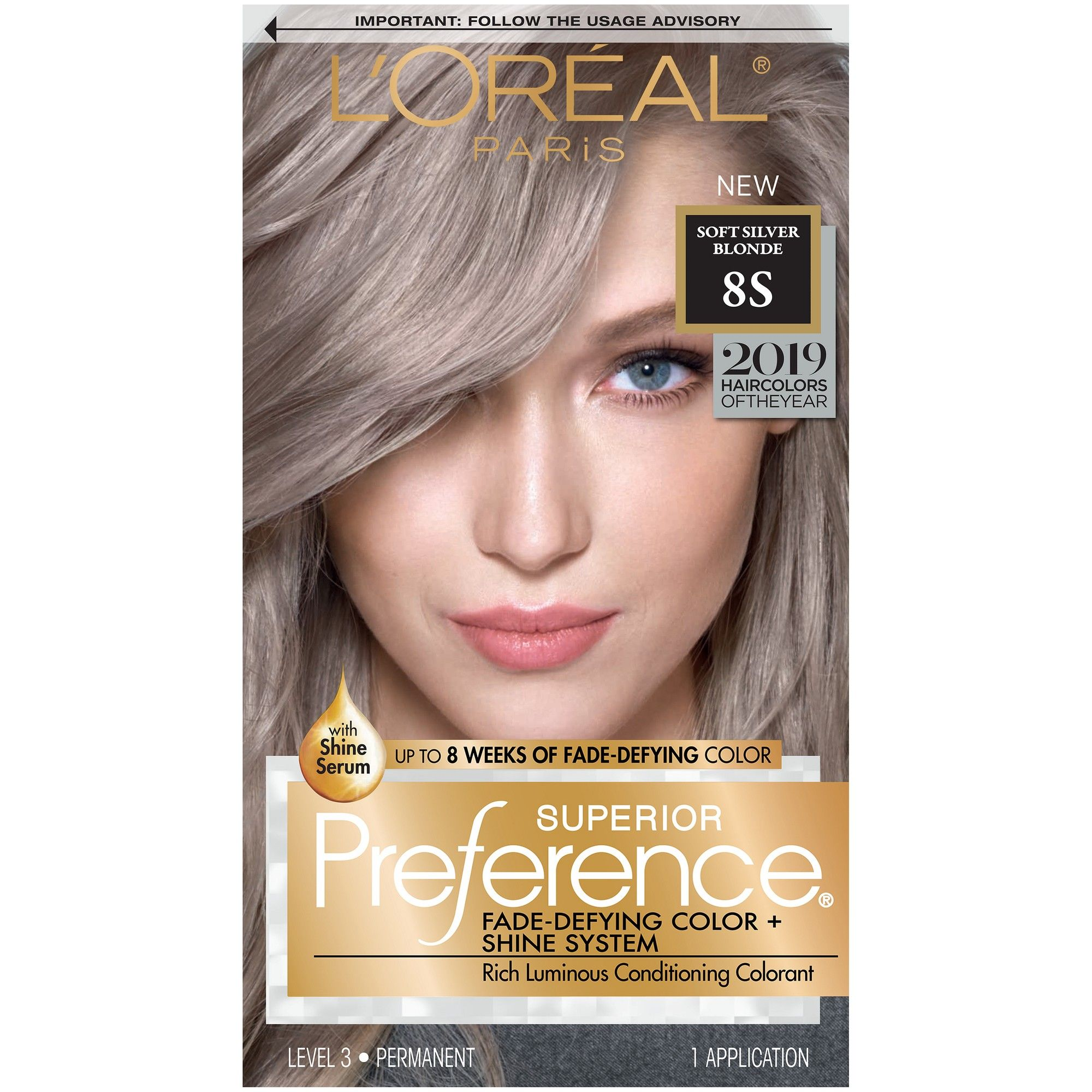 L Oreal Paris Fade Defying Color Shine System Permanent Hair Color Soft Silver Blonde Luminous Hair Color Permanent Hair Color Silver Blonde