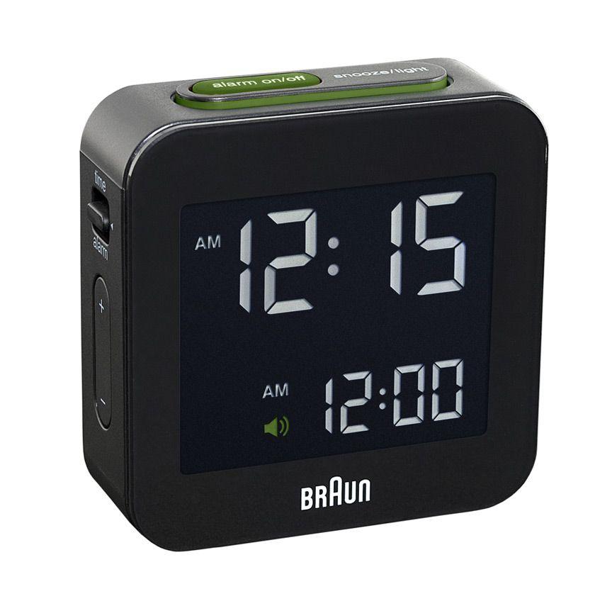 Braun C008 Digital Alarm Clock Black Braun Digital Clock Travel Alarm Clock Alarm Clock