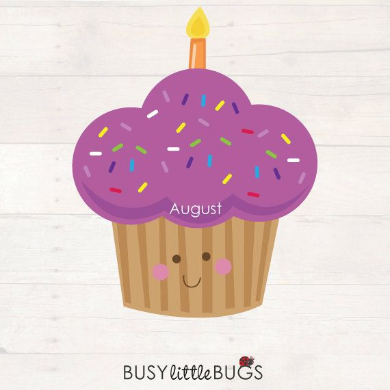 Cupcake Birthday Chart For Child Educators By BusyLittleBugsShop