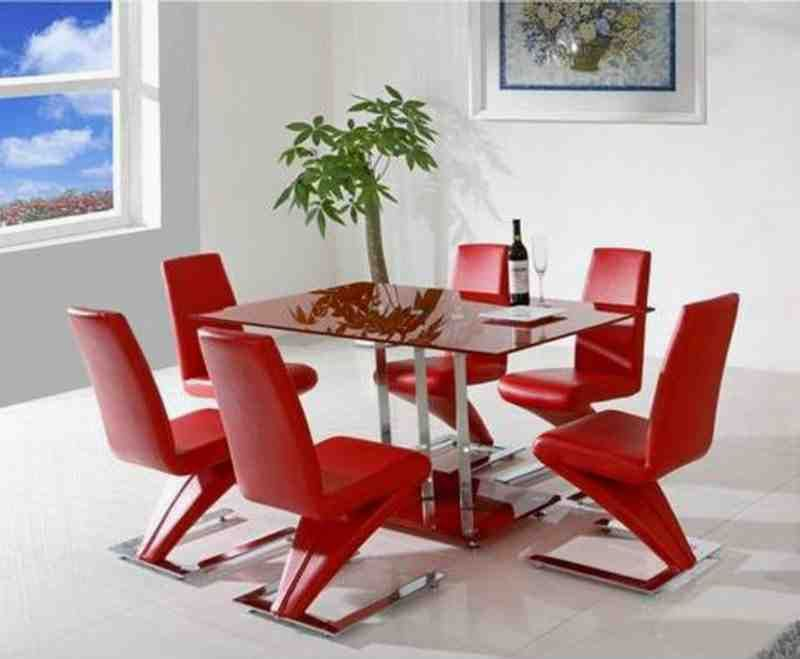 Red Dining Room Chairs Dining Room Furniture Modern Modern
