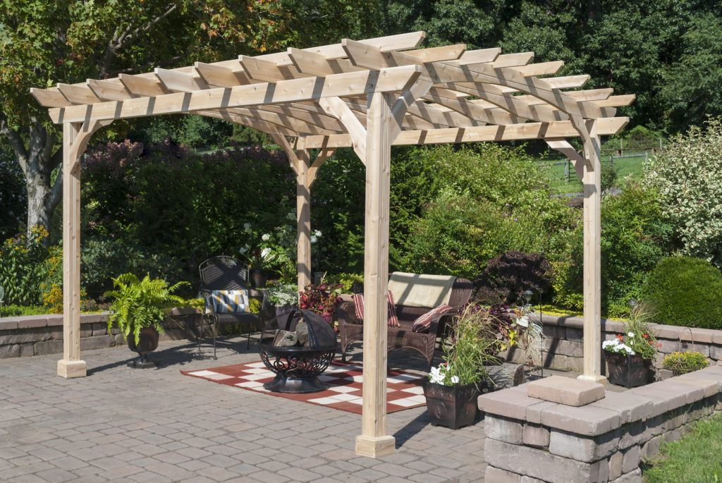 Wood Pergola Kit 10x12 Amish Cedar Yardcraft Outdoor Pergola Pergola Pergola Kits