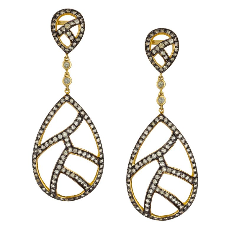 #sazingg #gold #earrings #sapphire #collection #2014 #holiday