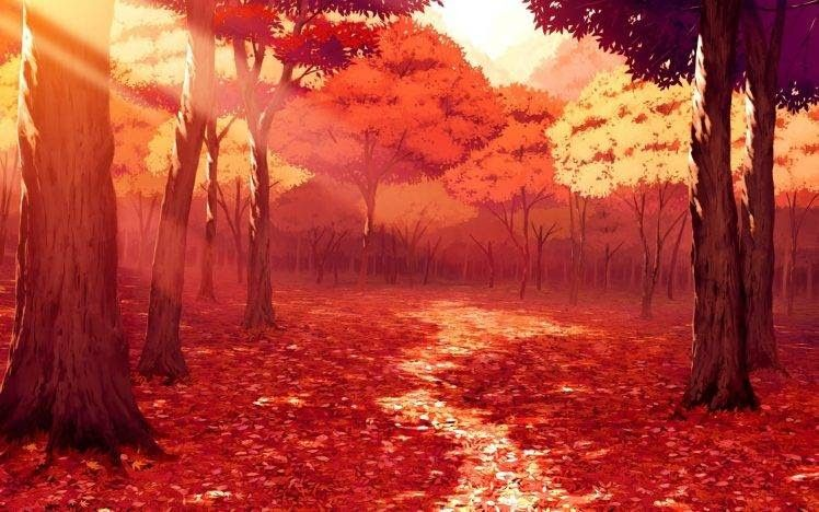 29 Fall Wallpaper Anime Drawing Artwork Fall Leaves Sunlight Forest Red Anime Download Fall Aesthe In 2020 Anime Scenery Scenery Wallpaper Anime Scenery Wallpaper