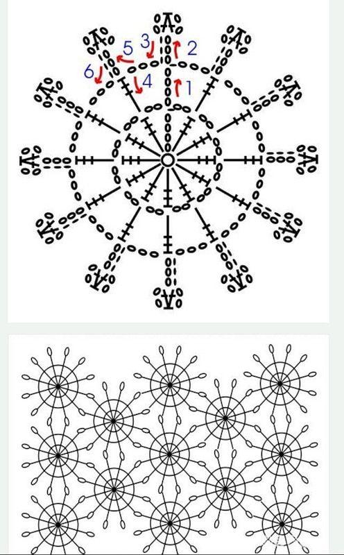 12-spoke crochet motif