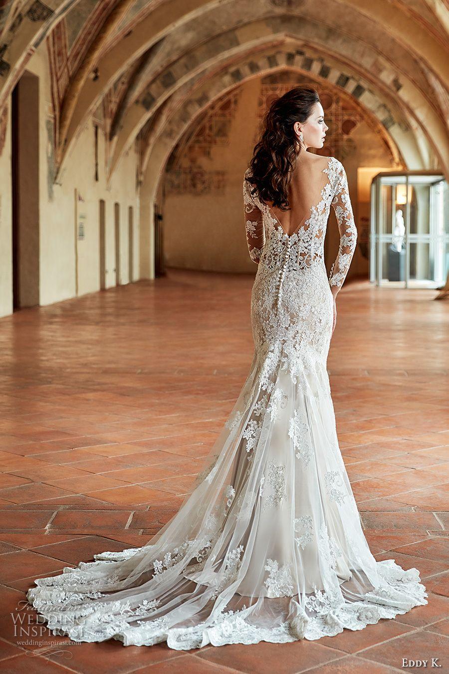Eddy k couture wedding dresses chapel train wedding dress