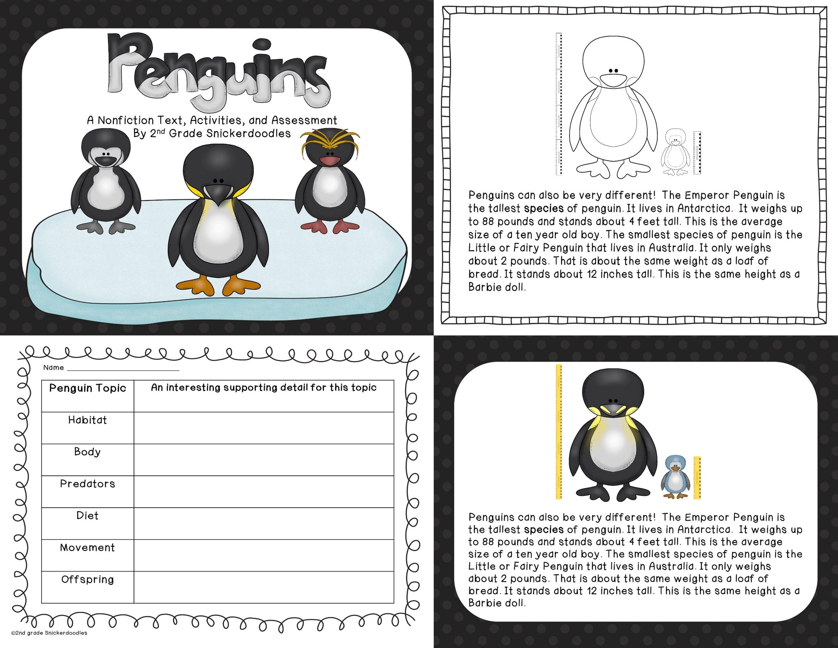 Penguins: A Nonfiction Text [ 2550 x 3300 Pixel ]