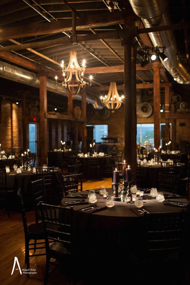 Dark Sultry Candlelit Wedding Nashville Cannery Aail Bobo Music City Events